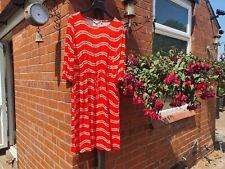 Boden Size 18L Orange & Ivory Jersey Day Dress jo336