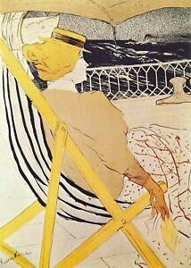 Vintage TOULOUSE-LAUTREC Impressionism Art Cruise Ship LA PASSAGERE - 12x8 Print