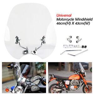 "Universal motorcycle 7/8 ""1"" handlebars windscreen windshield for Harley Honda"