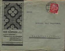 LENGENFELD/ROTHENKIRCHEN, Briefumschlag 1933, Max Günther & Co. Kunststeinwerk