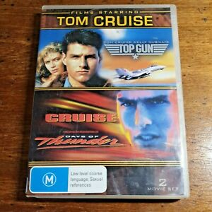 Tom Cruise Top Gun + Days of Thunder DVD R4 LIKE NEW FREE POST
