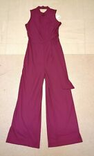 New BNWT Next wine colour jumpsuit cat suit all in one trouser jump  Sz 14