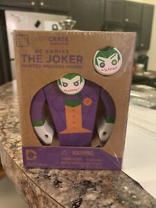 "Loot Crate Exclusive ""The Joker"" Painted Wooden Figure DC Comics 2015 [NEW]"