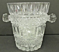 "Crystal Cut Glass Champagne Wine Chiller 5 1/4""  Ice Bucket 20 GLASS ICE CUBES"