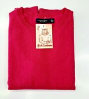 PULL TAILLE L SWEATER FEMME 100% PUR CASHMERE CACHEMIRE LANDS' END COL ROND ROSE