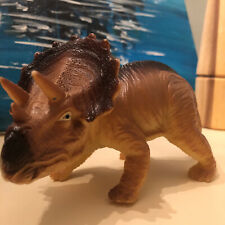 Vintage Triceratops Dinosaur Animal Action Figure Collectible Toy Figure Plastic