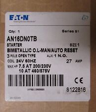 EATON CUTLER HAMMER AN16DN0TB 24V Size 1 AN16DN0 Starter 27 Amp