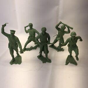 Marx 6 inch Plastic Russian Soldiers Lot Pre 1970