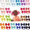40 Pcs Hair Bow Hair Tie for Baby Girls Kids Ribbon Pinwheel Bows Elastic Bands
