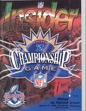 Minnesota Vikings Atlanta Falcons 1/17/99 Insider NFC Championship Game Program