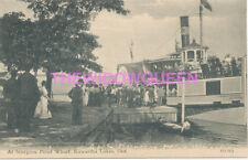 Canada Ontario Kawarthas Sturgeon Point Steamer Trent Valley Esturion Crowd 1908