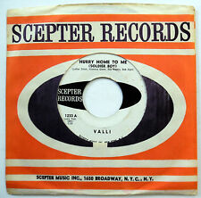 VALLI 45 Hurry Home To Me / Jimmy's In A Hurry VG++ Teen PROMO Girl Group w5468