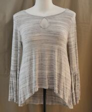 a.n.a., Large, Light Gray Spacedye, Long Tail Knit Top, New with Tags