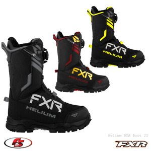 New 2021 FXR Helium BOA Snowmobile Boot Black/Hi-Vis/Rust/Gold 9 10 11 12 13