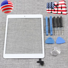 For iPad Mini 1 2 Touch Screen Glass Digitizer Replacement+ IC+Home Button White