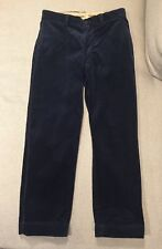 Polo by Ralph Lauren Navy Blue Corduroy Classic Fit Pants Mens Size 32