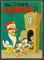 Walt Disney's Comics and Stories #28 GOOD- 1943 Donald Duck Father Time Cover