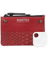 Kenneth Cole Reaction RFID Key Coin Purse with Tracker Baked Apple Snake