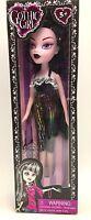 Gothic Girls Doll Black Hair Colorful Black Dress New In Box