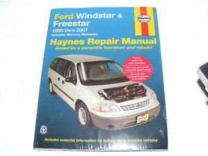 Haynes 36097 Repair Manual Ford Windstar & Freestar 1995 thru 2007