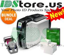 Zebra ZC300 Series Single Side Photo ID Card Printer Bundle NEW