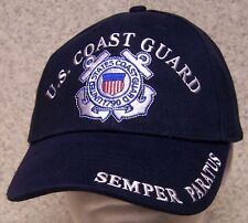 Embroidered Baseball Cap Military Coast Guard Semper Paratus NEW 1 size fits all
