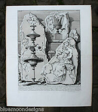 Piranesi Roma 1756 le antichit romanzi Fragments Pyramid of CESTIUS Cestio