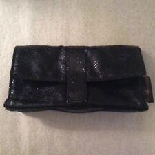 """BeautiControl Make Up Bag Case Shimmery Black with Snap Closure 7""""w x 4""""h x 2""""d"""