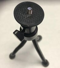 "CAMCORDER TRIPOD TABLE TOP PAN TILT ONMI BALL HEAD 1/4""-20+GOPRO MOUNT ADAPTER"