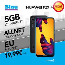 Huawei P20 Lite Dual-Sim im Blau Allnet Flat Handyvertrag nur 19,99€ monatlich