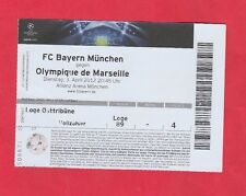 Orig.Ticket  Champions League 2011/12   BAYERN MÜNCHEN - O.MARSEILLE  1/4 FINALE