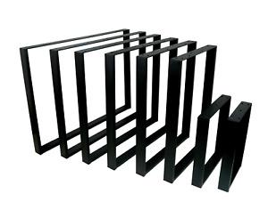 POKAR Steel Table Legs Bench Designer Metal Industrial Bench Coffee Side Table