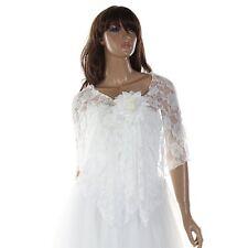 Women Wedding Bridal Shawl Wrap Cape Shrug Coat Bolero Lace Flower Stylish CT