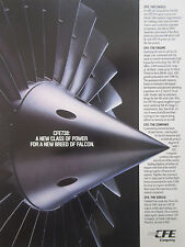 9/1990 PUB CFE GARRETT GENERAL ELECTRIC CFE738 ENGINE FALCON 2000 ORIGINAL AD