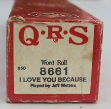 More details for qrs pianola word roll: i love you because played by jeff watters