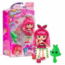 New Shopkins Shoppies Pippa Melon Doll w/ 2 Figures & Brush Official
