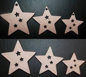 laser cut wooden stars shapes mdf wedding xmas Embellishments Craft 40,50,60, mm