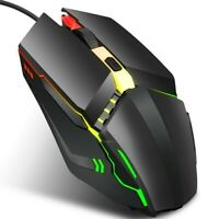 Cheap Gaming Mouse Pro Programmable LED Mice 4 Buttons USB Wired Optical PC UK