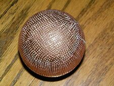 "Decorative Solid 3"" Wood Copper Mesh Round Sphere Orb BAll Decor"