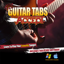 Guitar Lessons ACCEPT Songs Learn How To play Tablature + Tabs Software CD-R