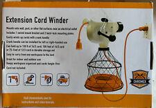 Green Leaf WW3D Wonder Extension Cord Winder, Orange Holds 150FT Cord