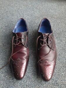 Ted Baker Burgundy Mens Shoes - size US 8