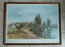 Alwyn Crawshaw Sweet and Dry Print Framed Signed by Artist Dated w Location Map