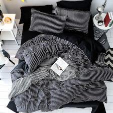 Black White Stripes Bedding Sets 4PCS Pillows Case Duvet Cover Comforters Cover