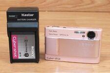 Sony Cyber Shot (DSC-T10) Carl Zeiss Vario-Tessar Pink Digital Camera Bundle