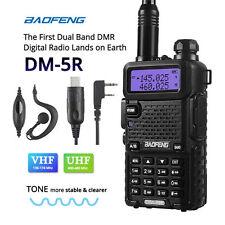 Baofeng DM-5R DMR Dual Band V/UHF Two-way Radio Walkie Talkie 2000mAh + Cable&CD