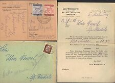 GERMANY 1940's THIRD REICH THREE CARD & ONE LETTER W/COVER FRANKED HITLERS ISSUE