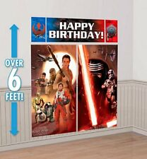 Star Wars 7 Happy Birthday Banner Scene Setters Wall Party photo back drop