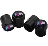 4 Ventilkappen BMW M Sports, Schwarz, Performance, Ventile Autoreifen