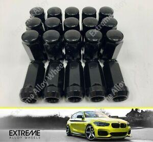 Black Nuts Fits Ford transit Custom 2013 > 2022 x 20 40mm Alloy wheel M14x1.5